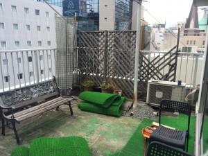 英会話教室のベランダのお片付け(大阪市中央区)